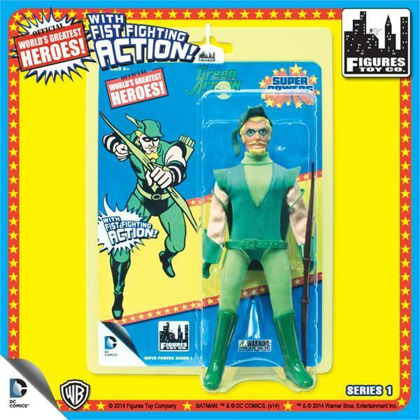 DC Comics Super Powers GREEN ARROW retro 8  Figure With Fist Fighting Action NEW