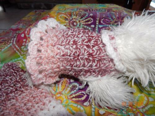 "Soft /& Warm /""MIXED BERRIES/"" Angora blend Dog Sweater WITH RUFFLES"