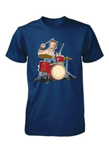 BNWT DRUMMER DRUMKIT ROCK BAND MUSIC RHYTHM  CHILD T SHIRT 3-15 YEARS
