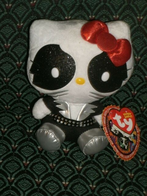 Ty Beanie Baby ~ HELLO KITTY CATMAN (Peter Kriss) from the Rock Band KISS ~ MWMT
