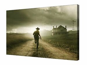 The-Walking-Dead-TV-Show-Zombies-Canvas-Wall-Art-Picture-Print-Framed-20-034-x30-034