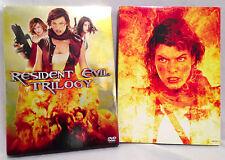 Resident Evil Trilogy 1-2-3  (3-disc DVD Set, 2002-07) Milla Jovovich, Gold Foil