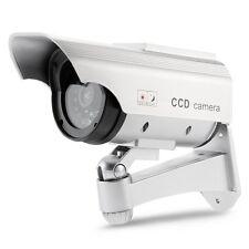 ET Solarbetriebene Dummy Kameraatrappe Überwachungskamera Attrappe