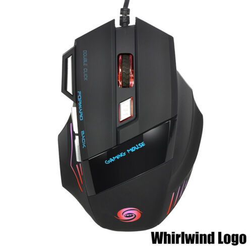 5500 DPI Gaming Mice Game Mouse USB Wired For Macbook Laptop PC Computer