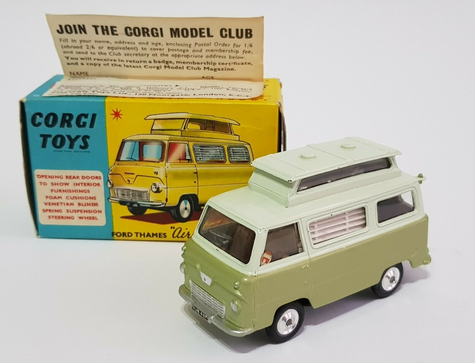 Corgi Spielzeugs No. 420, Ford Thames 'Airborne' voitureavan, Superb V Near Mint Condition