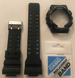 Details About Casio Original G Shock Band Strap Ga 100 Ga 100 1a4 Black Bezel Cover Ga100