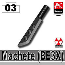 BE3X Machete (W14) Army Knife compatible with toy brick minifigures