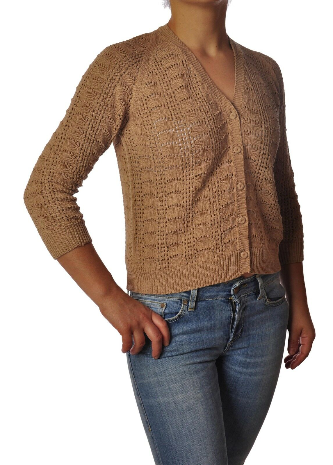 Ottod'ame  -  Cardigan - Donna Donna Donna - Beige - 3785528A181557 24f1d8