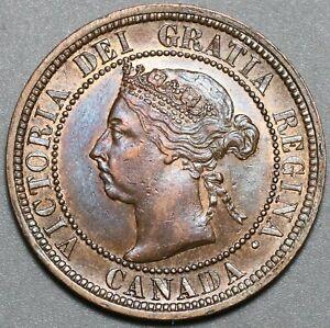 1890-H-Canada-Victoria-1-Cent-UNC-Britain-Empire-Coin-20100403R