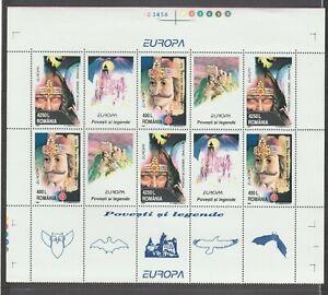s36367 ROMANIA 1997 EUROPA CEPT MNH** MS LEGENDE