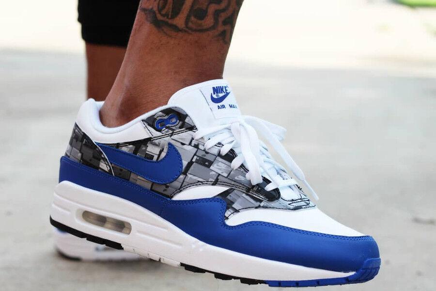 Nike air max 1 og x l'impronta che amiamo nike blu - bianco unito taglia 11 12