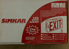 Simkar Led Exit Sign Red Letters Arrows Double Sided Battery Backup Complete Kit