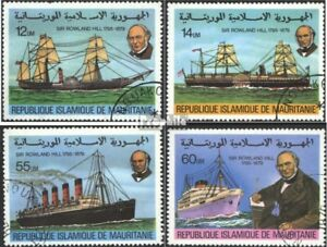 Bien Mauritanie 636-639 Oblitéré 1979 100.mort De Sir R.hill