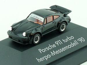 Herpa Porsche 911 Turbo Herpa-Messemodell '90 1990 Modellbau Vitrine 1411-18-87 - Königsbrunn, Deutschland - Herpa Porsche 911 Turbo Herpa-Messemodell '90 1990 Modellbau Vitrine 1411-18-87 - Königsbrunn, Deutschland