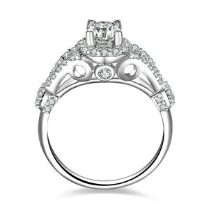 925-Sterling-Silver-Cz-Wedding-Band-Engagement-Halo-Ring-Women-Size-3-12-ENG018