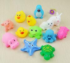 13 PCs niños juguetes de goma suave sonido Baby Wash baño flotador * sqeeze