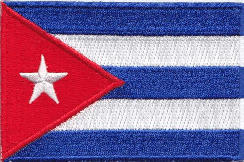 "SYMBOL FLAG OF CUBA Iron On Embroidered Patch CUBA FLAG 3 1//2/"" CUBAN"