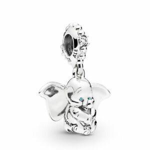 Authentic-Pandora-Charms-925-ALE-Sterling-Silver-CZ-Dumbo-Bracelet-Bead-Charm