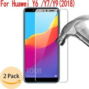 2X-Tempered-Glass-Film-Screen-Protector-For-Huawei-Y9-Y6-Y7-Prim-2018-2017-LEW3