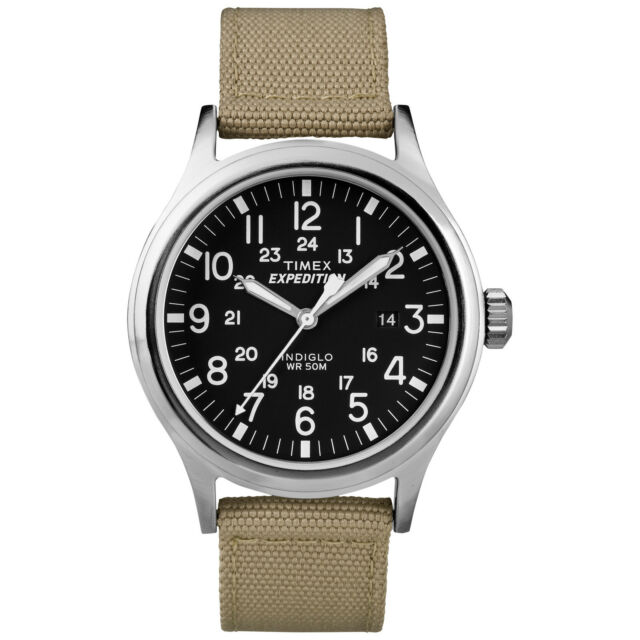 Timex T499629J Men's 'Expedition Scout' Tan Nylon Strap Watch