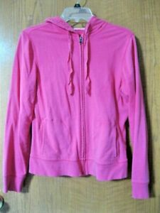WOMENS-JUNIORS-FUCHSIA-PINK-FULL-ZIP-HOODIE-BY-SO-IN-SIZE-LARGE