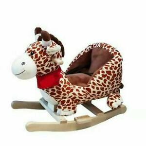 Children's Rocking Horse Rocker Animal Toy For Kids Wooden With Music Great Gift