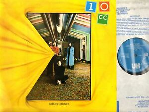 10CC-sheet-music-UK-Original-LP-EX-VG-UKAL-1007-Art-Rock-1974