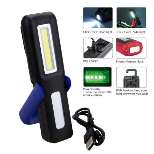 3W Portable COB LED Work Light Magnetic Adjustable Flashlight Car Repair Lamp