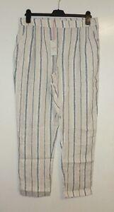 taille Hh 08 rayures en Pantalon naturelle 14 White The 14 Stuff 5054901203638 lin Maison à Lf076 Tx8qO60