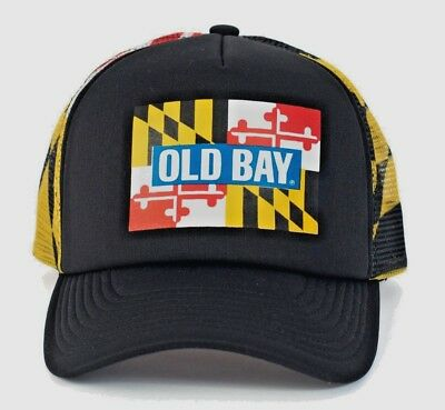 Brand NEW ! OLD BAY MD Flag Trucker Hat