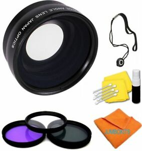 Wide Angle Lens MACRO + UV CPL FLD FILTER KIT FOR CANON EF-S 18-55mm f/3.5-5.6