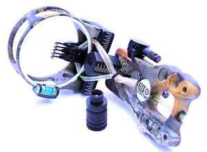 Camo Fiber Optic Lighted Sight .019 5 Pin Compound Bow LS3