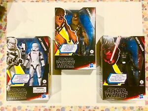 Hasbro-Star-Wars-Galaxy-of-Adventures-Darth-Vader-Jet-Trooper-Chewbacca-NEW