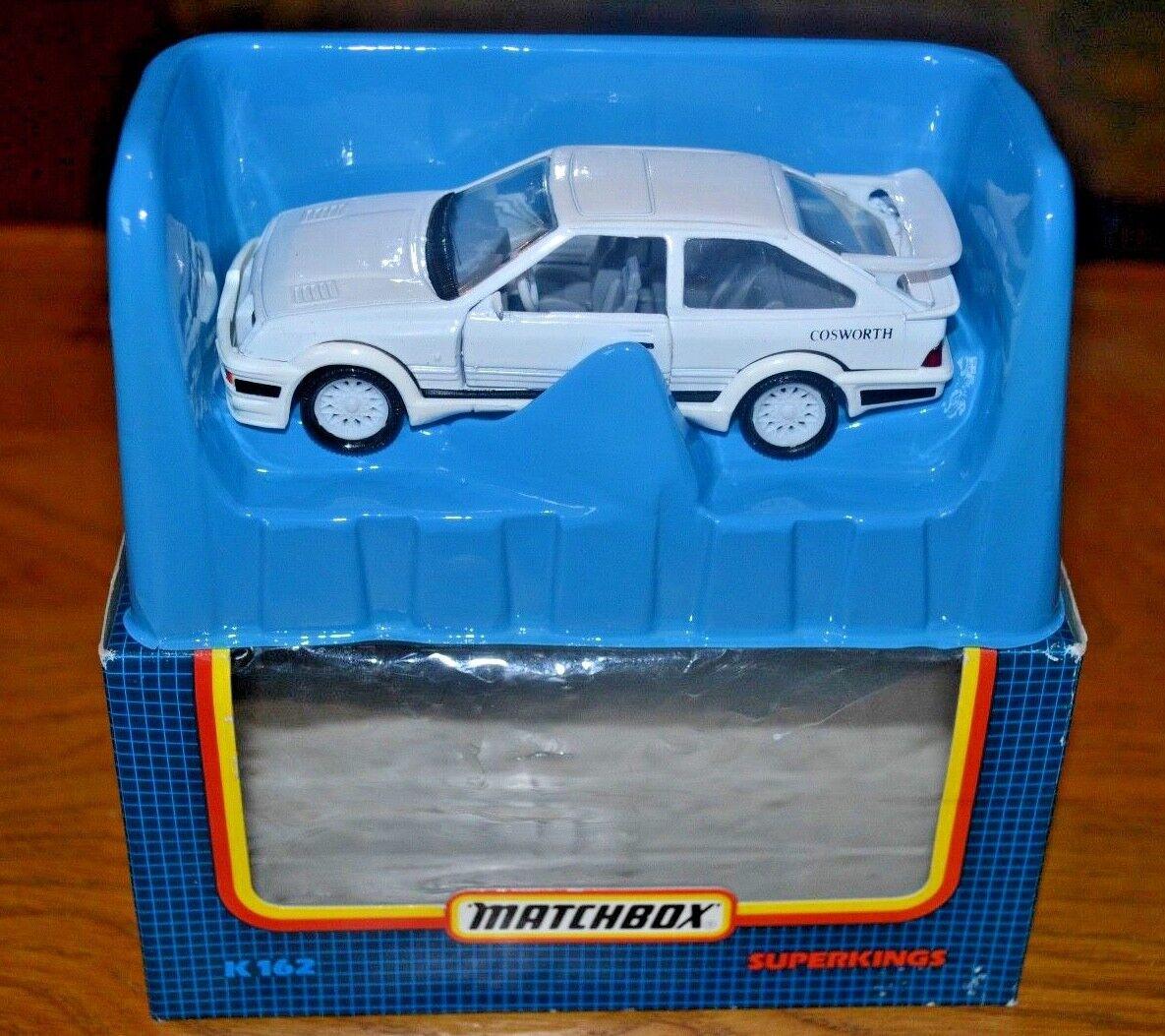 VINTAGE MATCHBOX SUPERKINGS K162 Sierra RS Cosworth en Original Boîte De Fenêtre