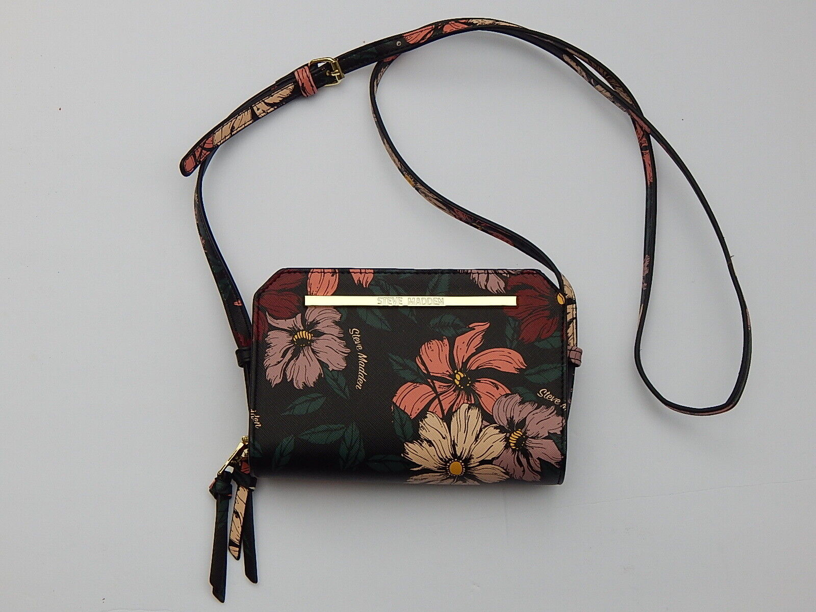 STEVE MADDEN DOUBLE COMPARTMENT CROSSBODY SHOULDER Bag NEW AUTHENTIC