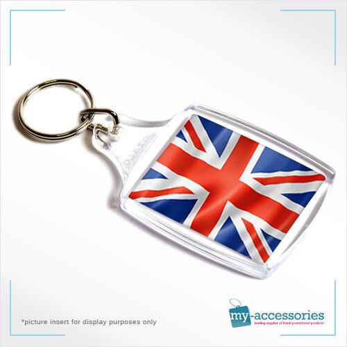 Blank Plastic Keyring Passport Photo Size with Insert 45 x 35mm A4