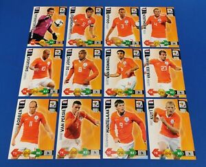 PANINI-Adrenalyn-XL-World-Cup-2010-ALLE-12-Base-Cards-Niederlande-Complete