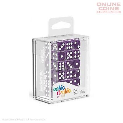 Oakie Doakie Dice 12mm W6 Würfel Speckled Rosa D6 Tabletop Glitzer pink 36