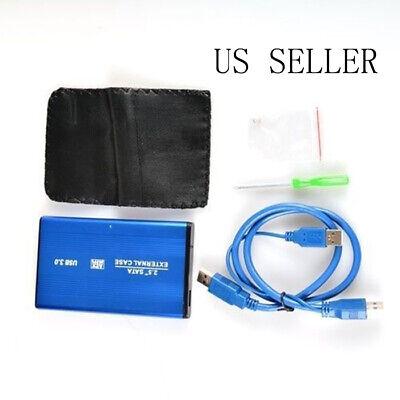 "USB 3.0 HDD Hard Drive External Enclosure for Laptop 2.5/"" Fast SATA Case Box Kit"