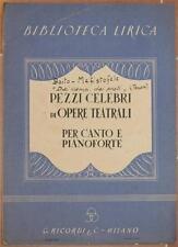 SPARTITO ARRIGO BOITO MEFISTOFELE CANTO PIANOFORTE PIANO MUSICA TENORE 1940