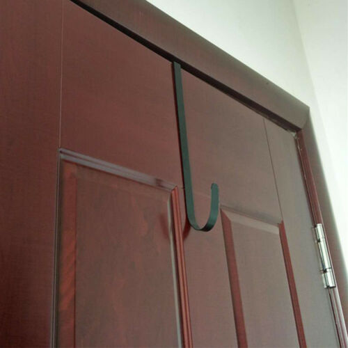 """Over The Door Wreath Holder 10/"""" Metal Hook Black White Towel Bag Hanger PUXI @sh"""