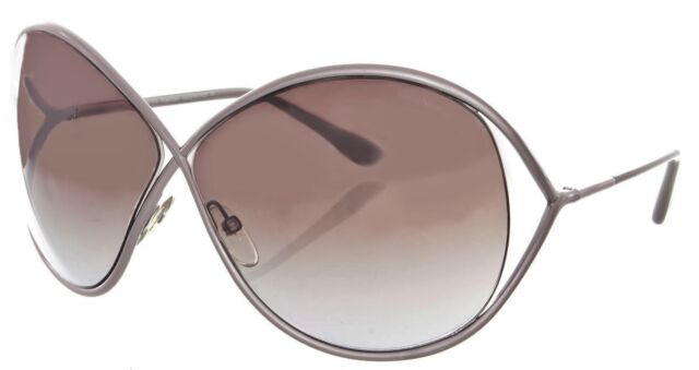 Tom Ford LILLIANA Sunglasses Pearl Pink Frame Gradient Lens FT131 57F 66-10 115