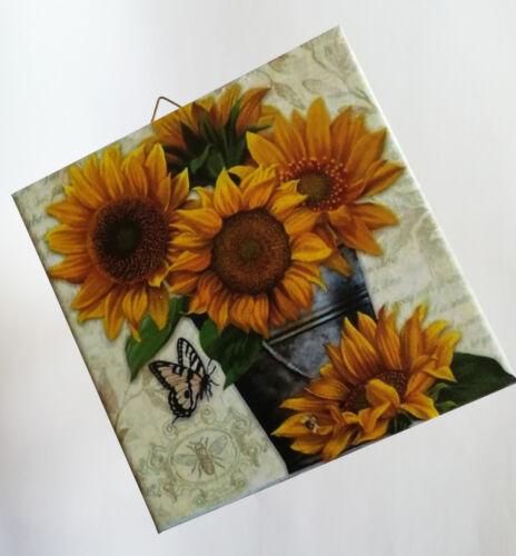 Geschenkidee Fliese 116DP Dekofliese Wandbild Bildfliese Blumen Sonnenblumen