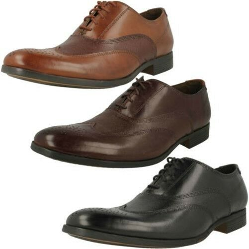 Hombre Oxford Clarks Formal Zapatos Oxford Hombre con Cordones Gilmore Wing a86e94