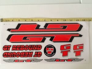 Black /& Silver. GT Rebound Stickers Red
