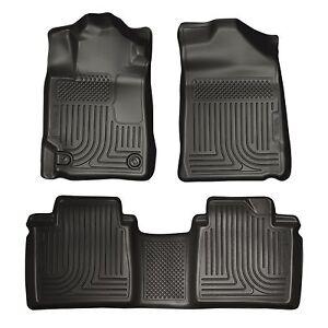 Husky-Liners-WeatherBeater-Floor-Mats-3pc-98501-Toyota-Avalon-13-18-Black