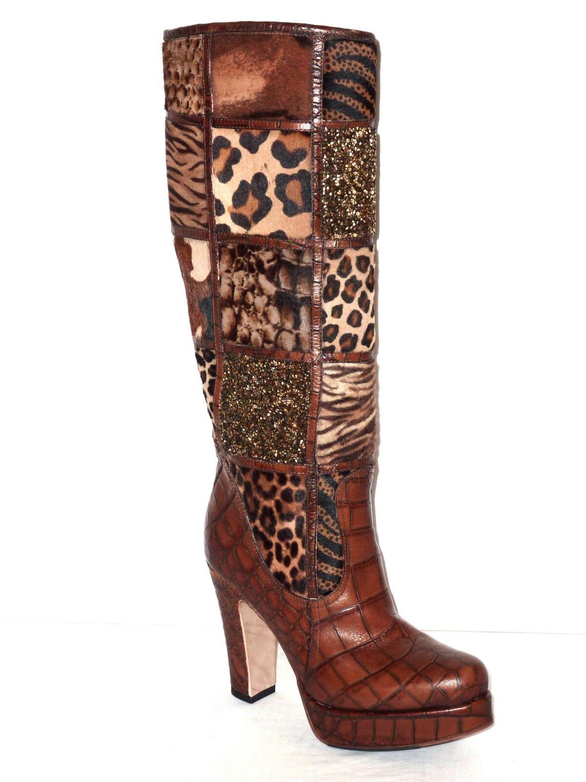 AMARANTI botas botas botas mujer PELO CAV.marrón E SWAROVSKY n.39 626db6