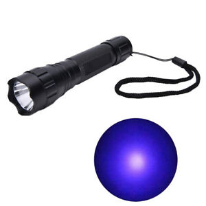 UV-WF-501B-LED-365NM-Ultra-Violet-Blacklight-Flashlight-Torch-18650-Light-Lam-EB