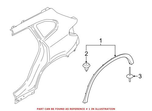 For BMW Genuine Fender Flare Rear Left 51777332339