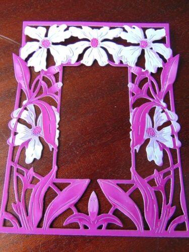 Tattered Lace dado corta Marco de flor cortada inglés Daisy X 6-12 Colores Impreso